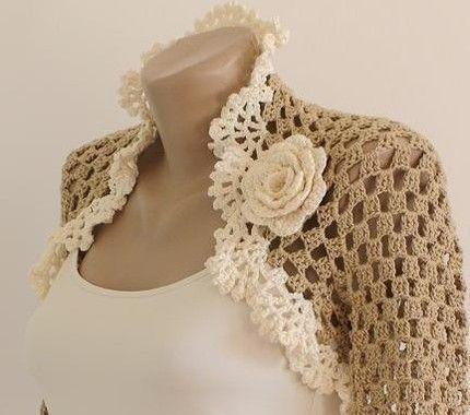 facil-y-sencillo-patron-para-bolero-a-crochet-9 | ropa mujer ...