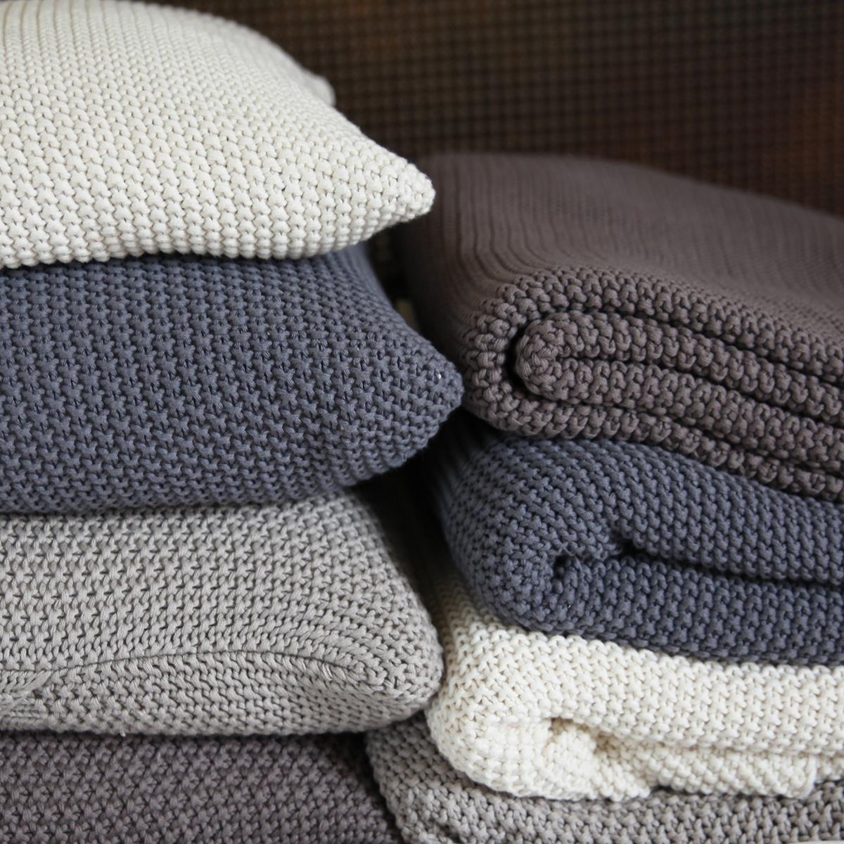 Cosy, Warm & Soft Moss Stitch Cotton Throw | Moss stitch, Cotton ...