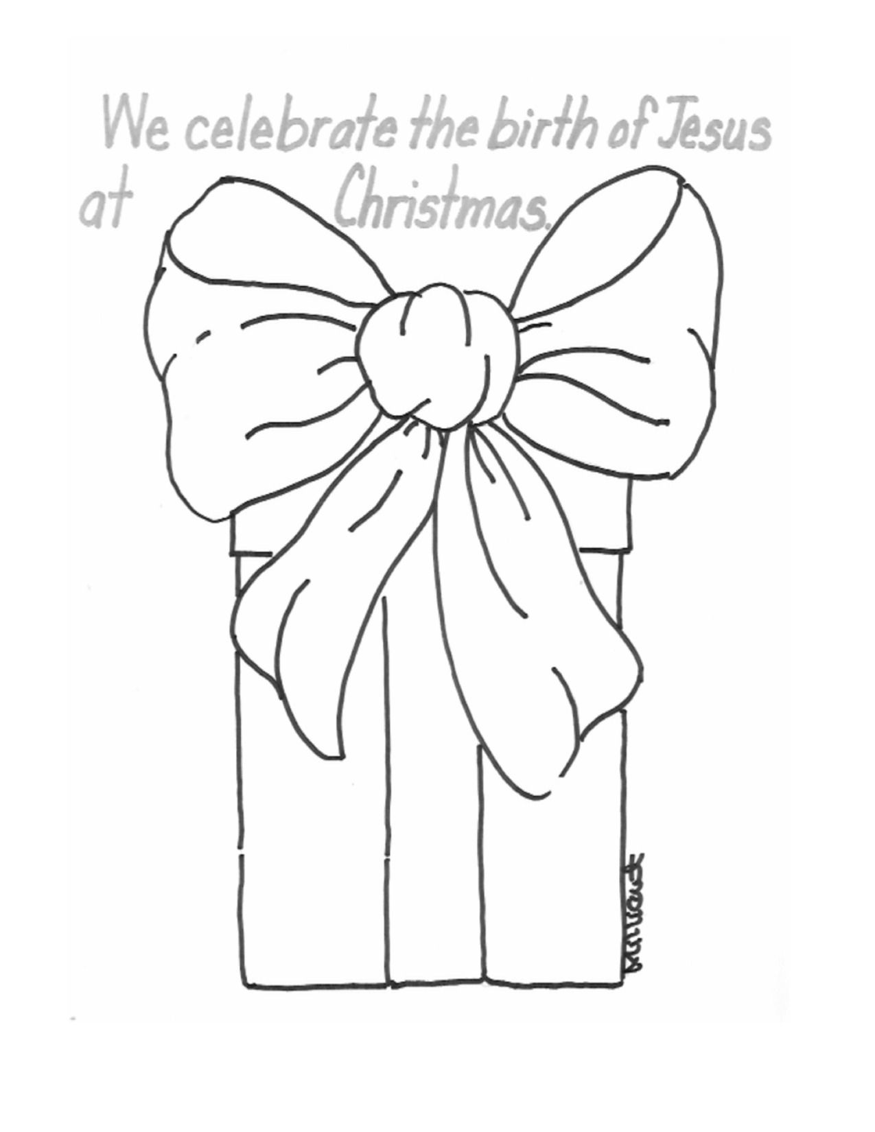 Christmas Present Coloring Page Christmas Present Coloring Pages