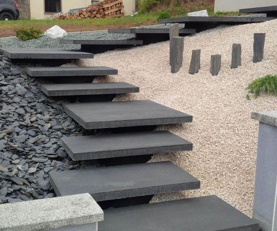 Infinito moderno vesuvio escaliers ext rieurs outdoor for Escalier entree exterieur