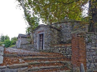 ancient buildings in Cazzago , Varese , Italy.