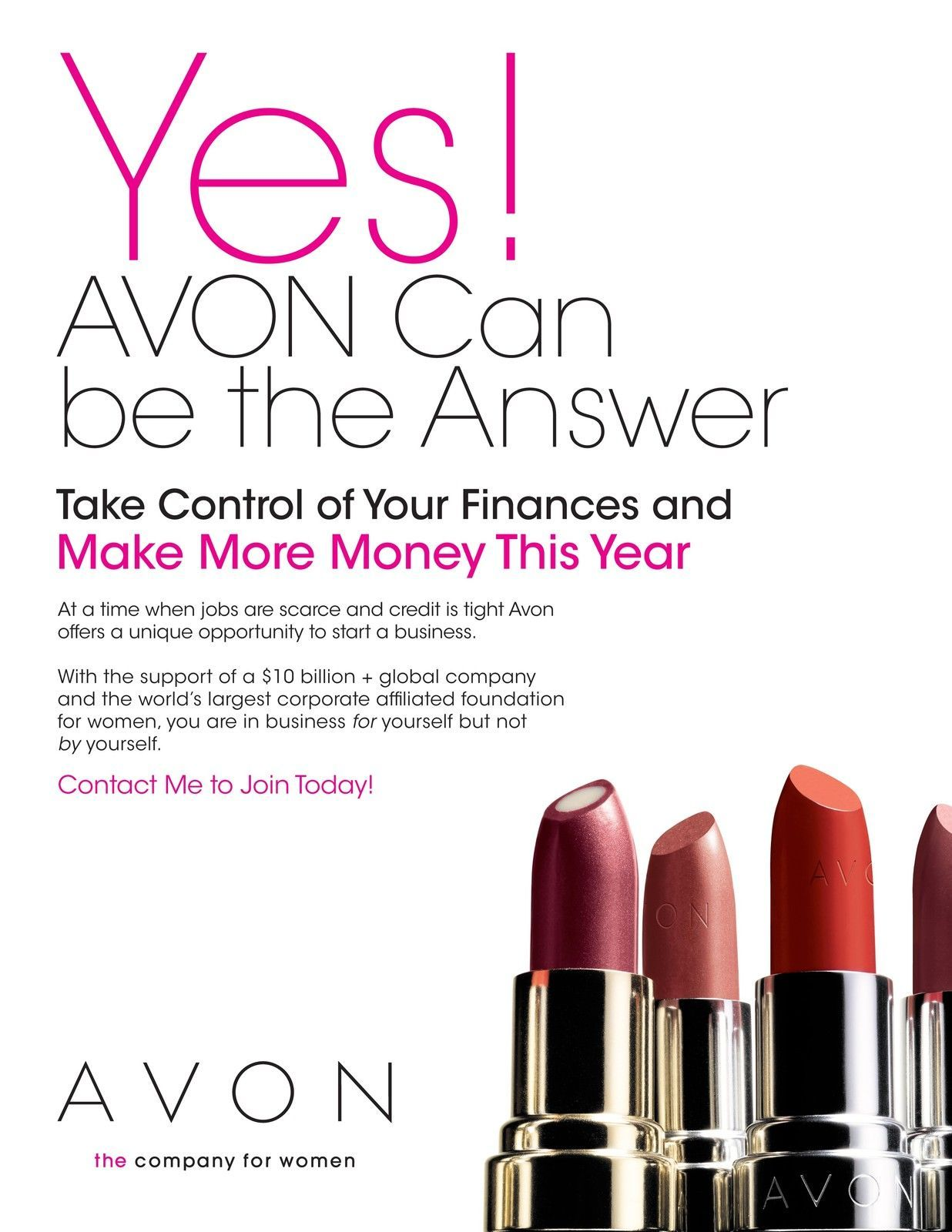 an AVON Independent Sales Representative! Only 15