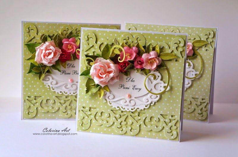 Colorina 144 Podziekowania Dla Nauczycieli Cards Handmade Floral Cards Inspirational Cards