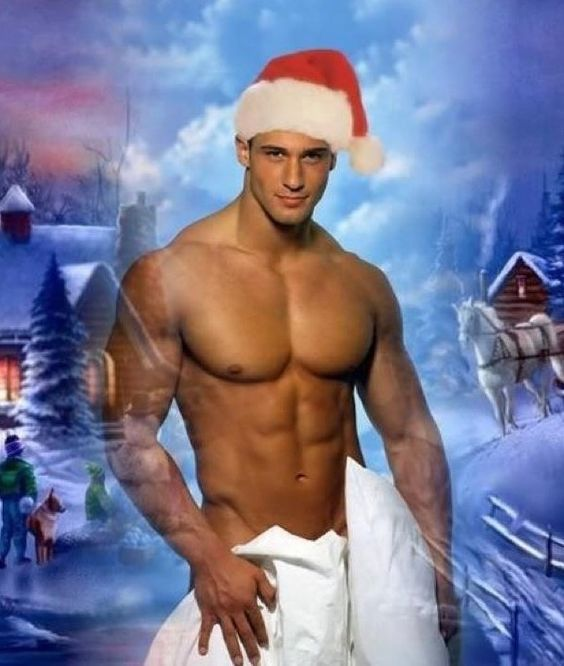 gay christmas hunk