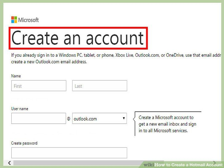 How To Create A Hotmail Account? Hotmail provides high level - create outlook account