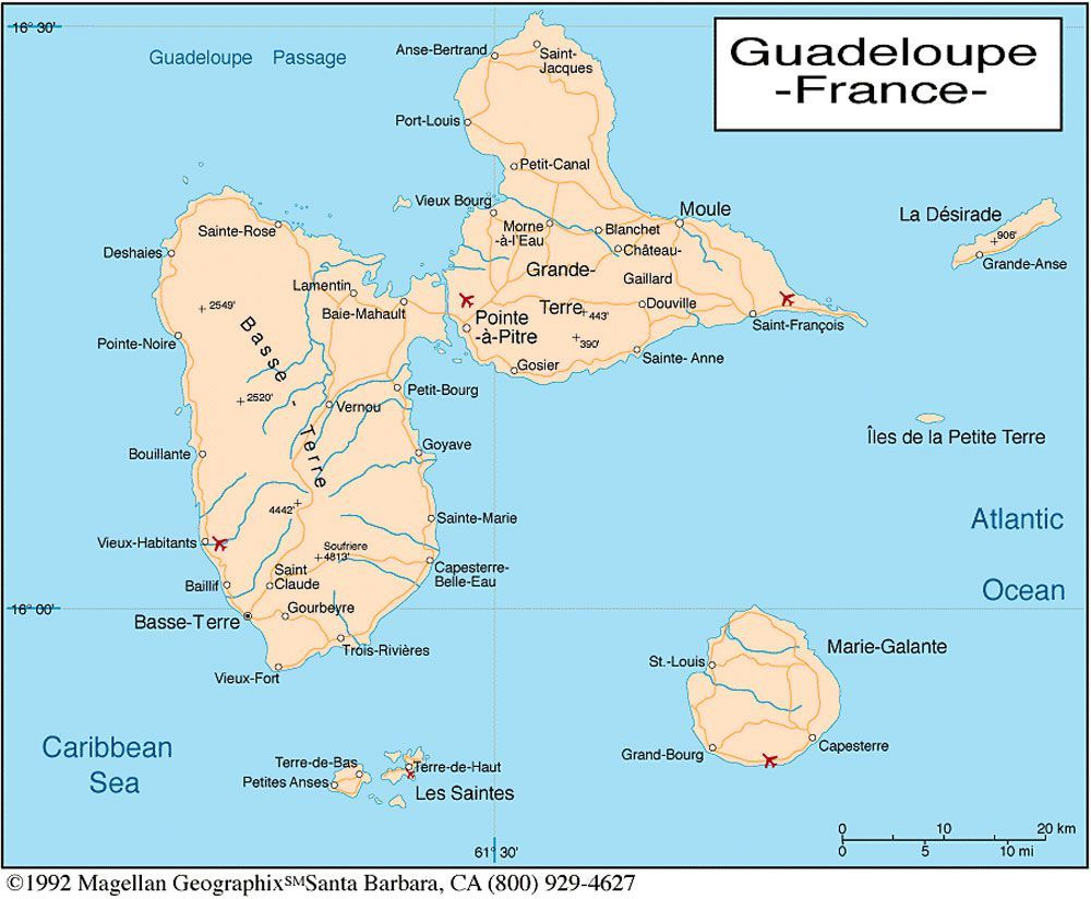 Guadeloupe_department_relief_location_map. 1 015 × 890 pixels