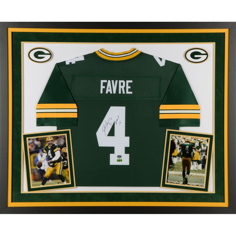 Brett Favre Green Bay Packers Fanatics Authentic Deluxe Framed Autographed  Green Proline Jersey with HOF 16 Inscription e6597503e