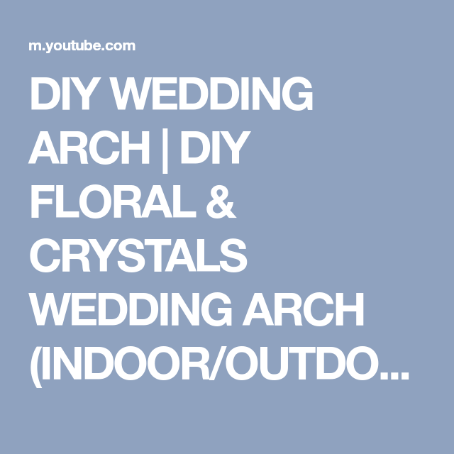 Diy wedding arch diy floral crystals wedding arch indoor in this video im going to show you how to make and decorate a beautiful diy wedding arch with pvc pipes this diy floral wedding arch was very easy junglespirit Gallery