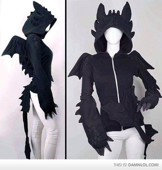 This yearu0027s hoodie Halloween costume challenge how-to-train-your-dragon- toothless-dragon-hoodie i want that so bad ! & This Hoodie Is Insanely Epic | clothes | Pinterest | Hoodie Cosplay ...