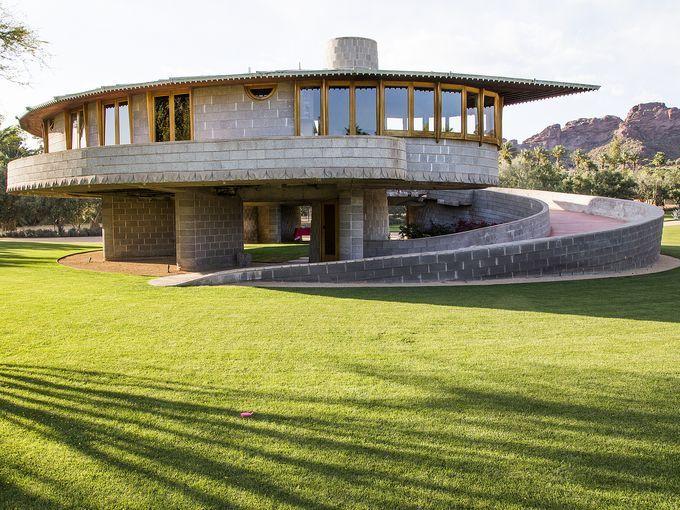 David U0026 Gladys Wright Residence. 1950. Phoenix Arizona. Usonian. Frank  Lloyd Wright
