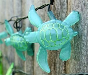 Aqua Sea Turtle String Lights 8 5 Tropical Breeze Décor 16 49