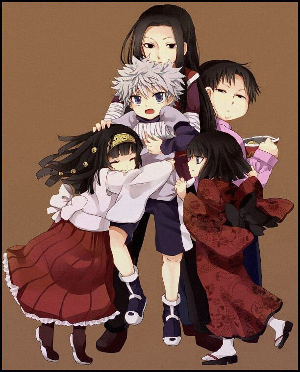 Alluka, Killua, Illumi, Kalluto, and Milluki ~Hunter X