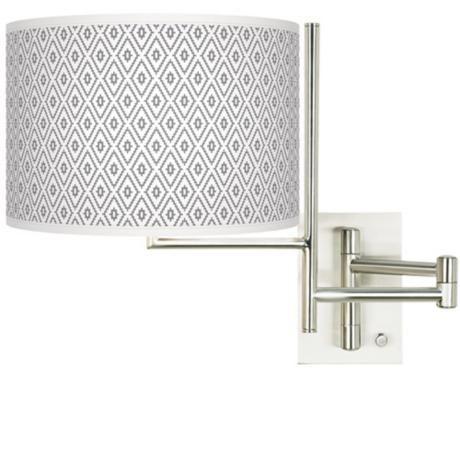 Tempo Diamonds Plug-in Swing Arm Wall Light -