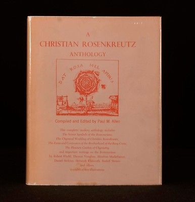 1968 A Christian Rosenkreutz Anthology Dustwrapper First Edition - http://books.goshoppins.com/christian-books-bibles/1968-a-christian-rosenkreutz-anthology-dustwrapper-first-edition/