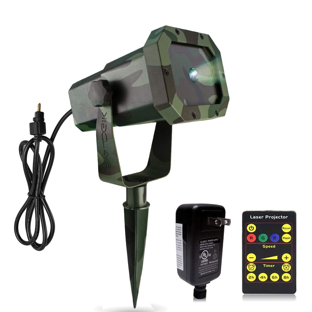 Garden Decoration Moving RGB 20 Patterns Outdoor Waterproof Laser Projector Light Party with RF Remote Control /& Timer Perfect for Lawn
