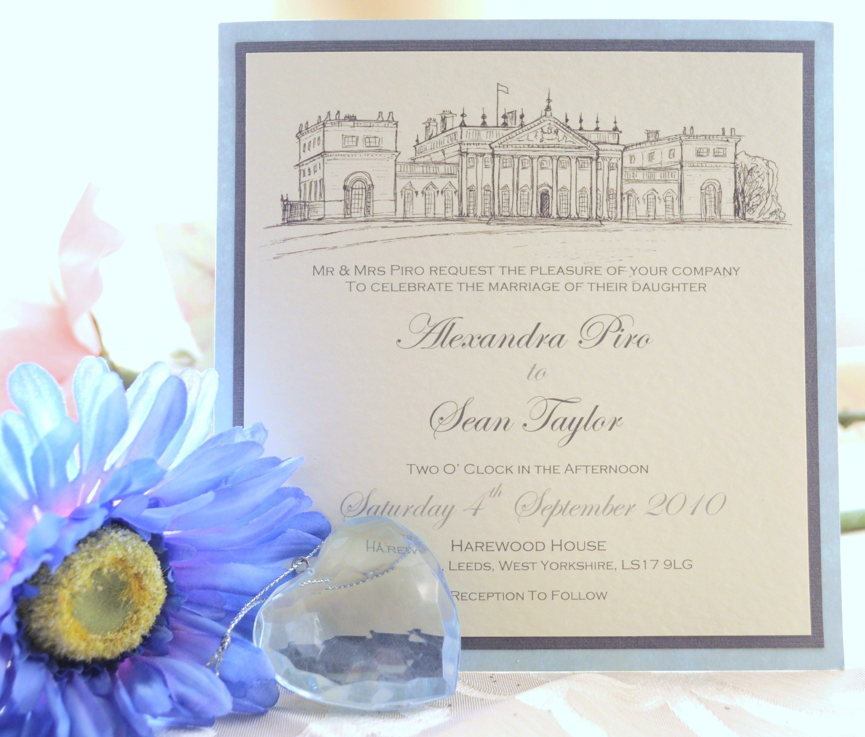 I love this-a pen and ink drawn wedding invitation by julia ward ...