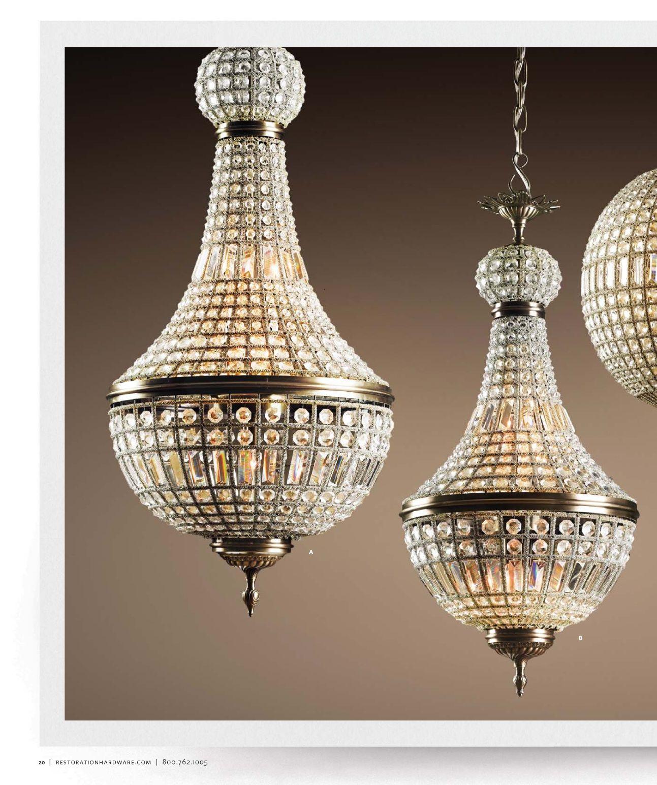 lighting catalog restoration hardware