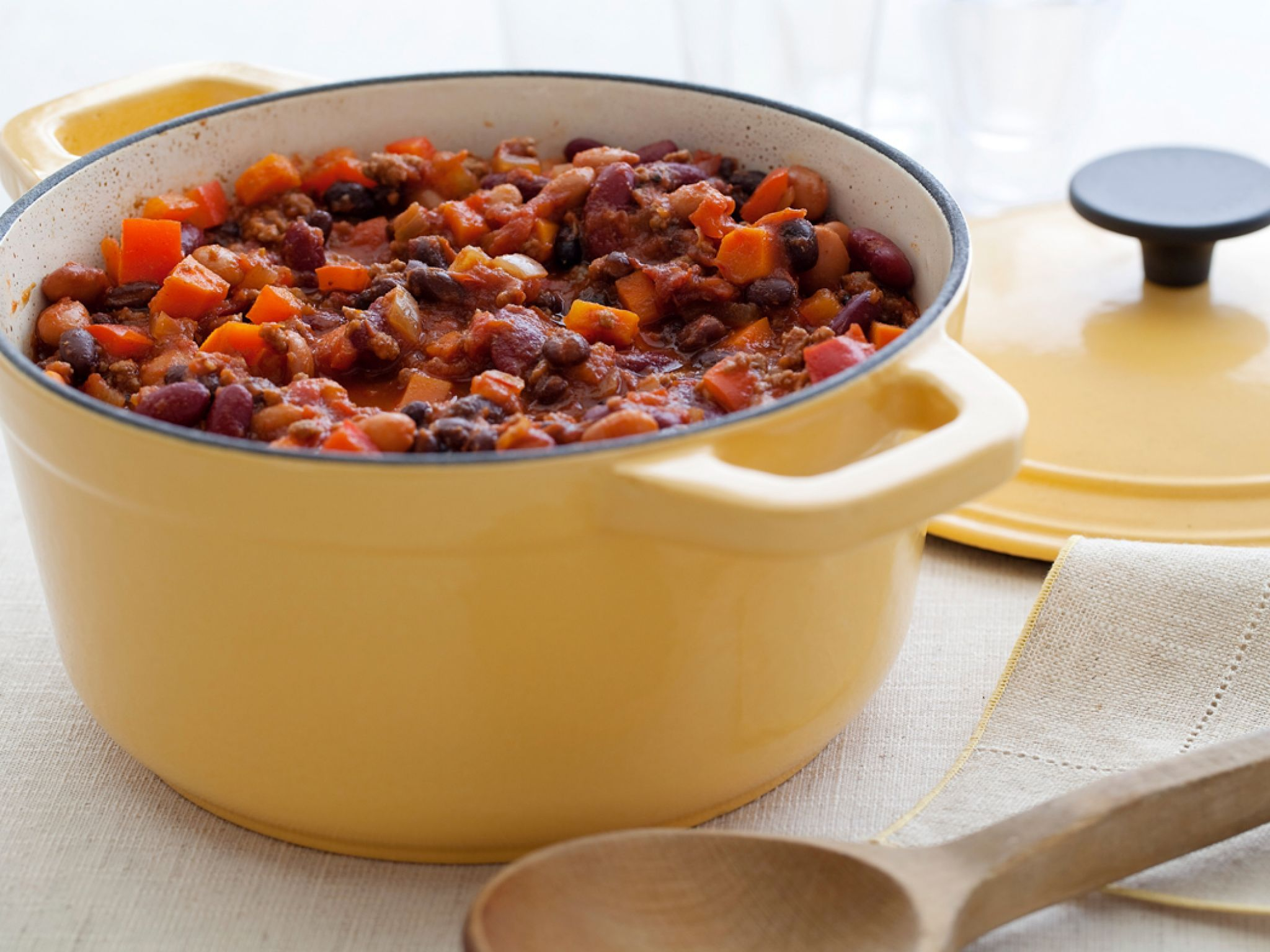Three Bean And Beef Chili Recipe In 2018 Healthyer Eating