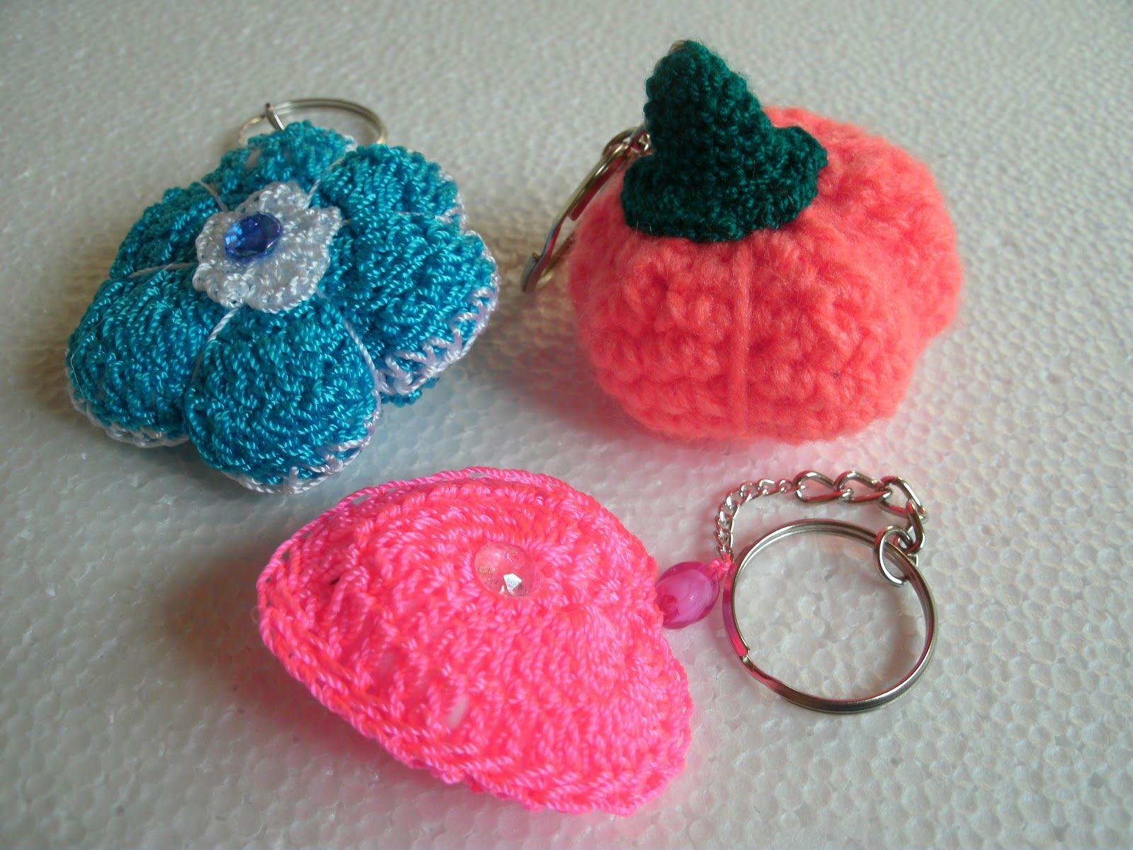 -Ana Luisa y sus tejidos: Llaveros tejidos a crochet