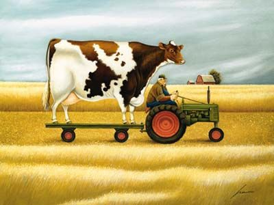 Ride To The Fair  by Lowell Herrero (American, born 1921)