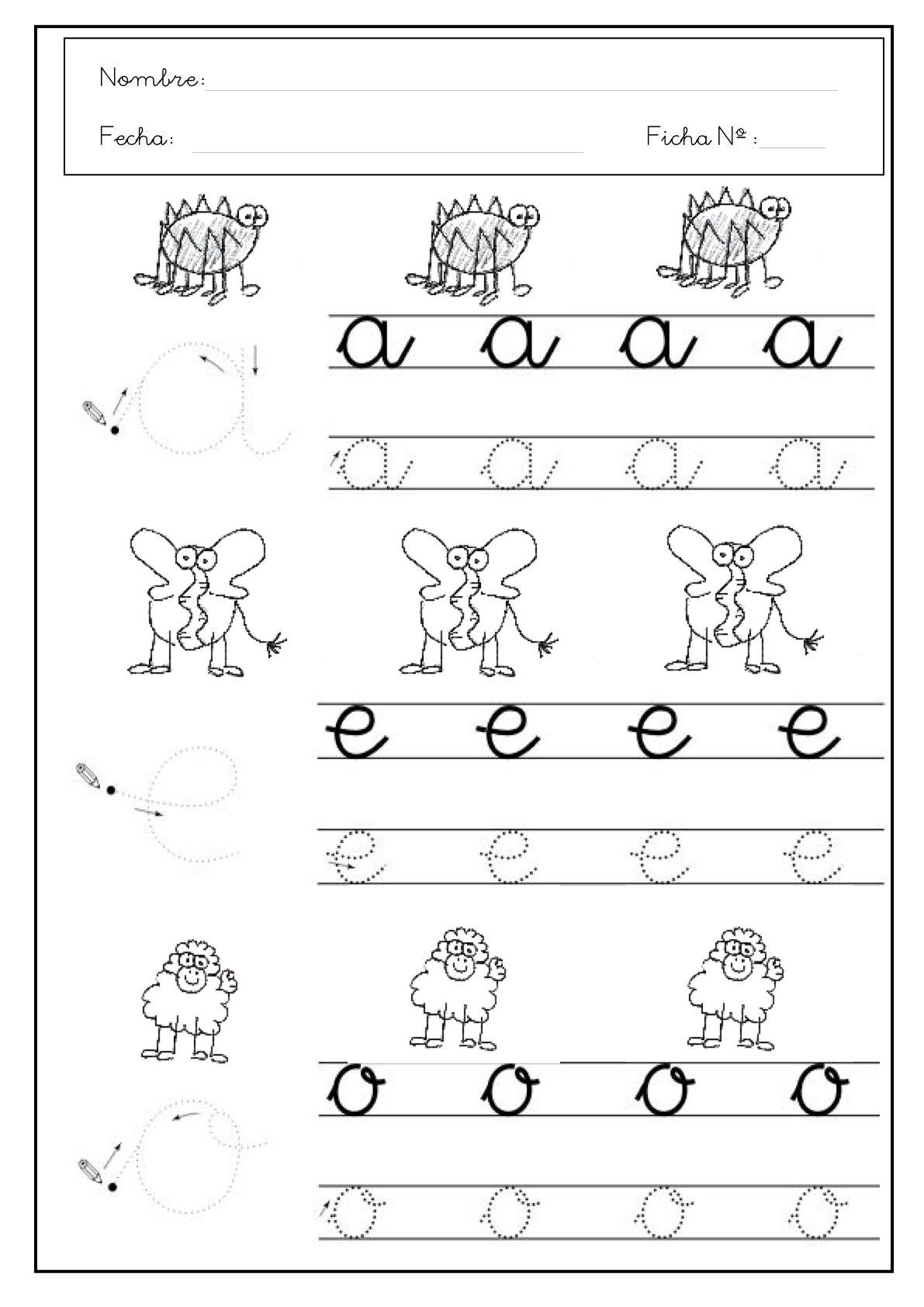 Resultado de imagen de fichas letra a minuscula | Aprender ...