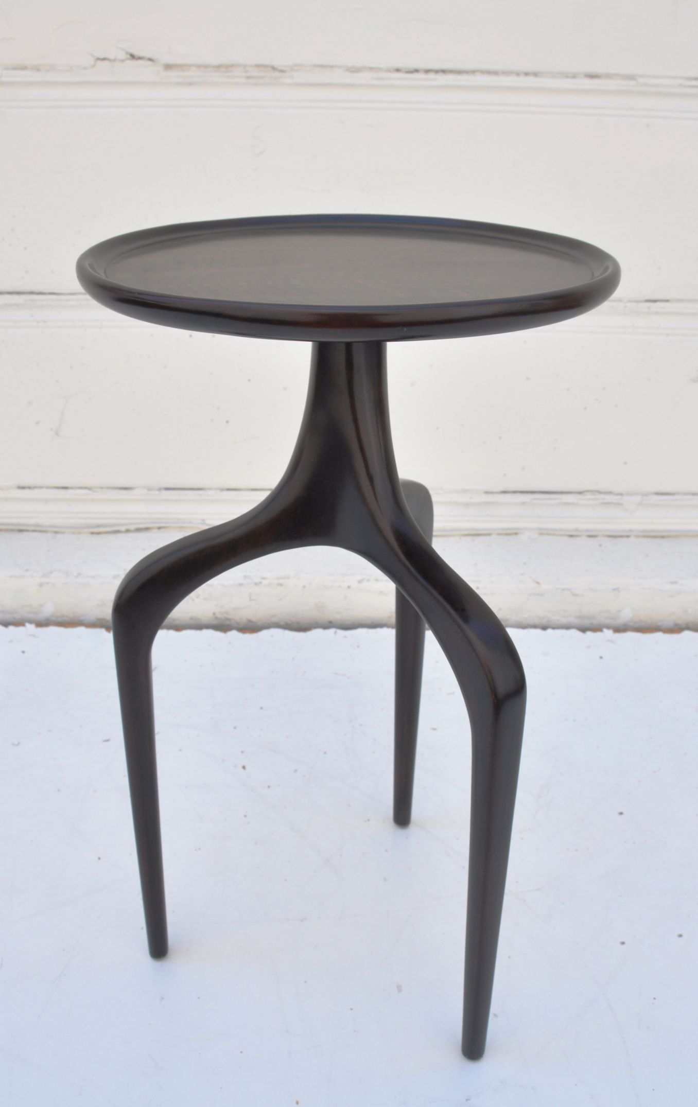 Tripod Ebony Veneer Side Table Mecox Gardens Side Table Table Home Decor Items [ 2151 x 1356 Pixel ]