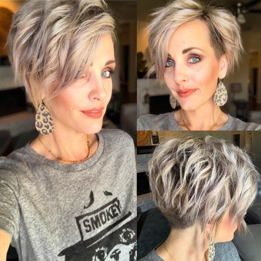Haley Young Designer On Instagram Wild Hair Pixiepalooza Kurzehaare Undercut Pixiecut Leatherea Kurzhaarfrisuren Frisuren Haarschnitte Haarschnitt Ideen