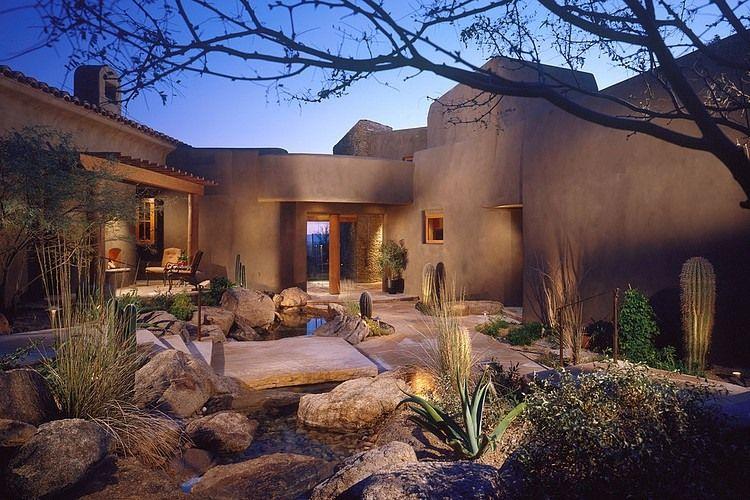 Desert Residence By The Phil Nichols Company Hacienda Style Desert Homes Pool Landscape Design