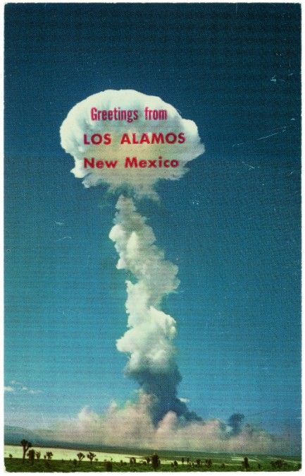 greetings from los alamos  new mexico vintage postcard
