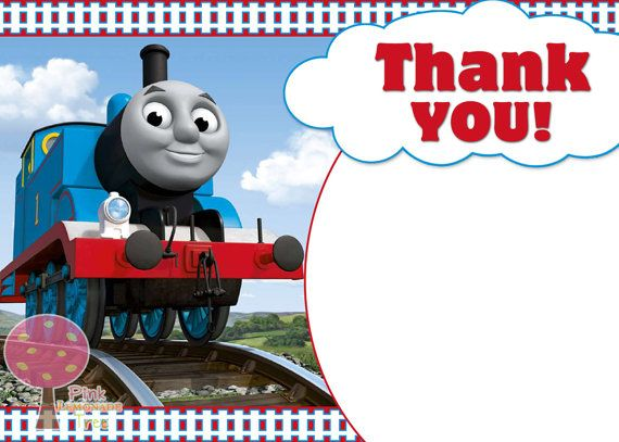 Thomas The Tank Engine Thank You Card Thomas The Train By
