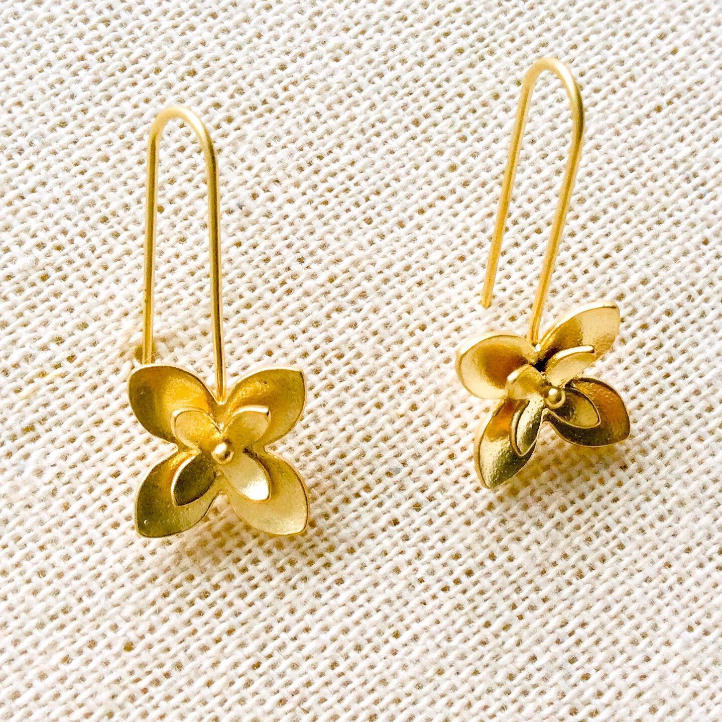 Gorgeous Gold Flower Earrings Contemporary Design Ideal For Everyday Wear Earrings Rose Gold Earrings My Jewellery