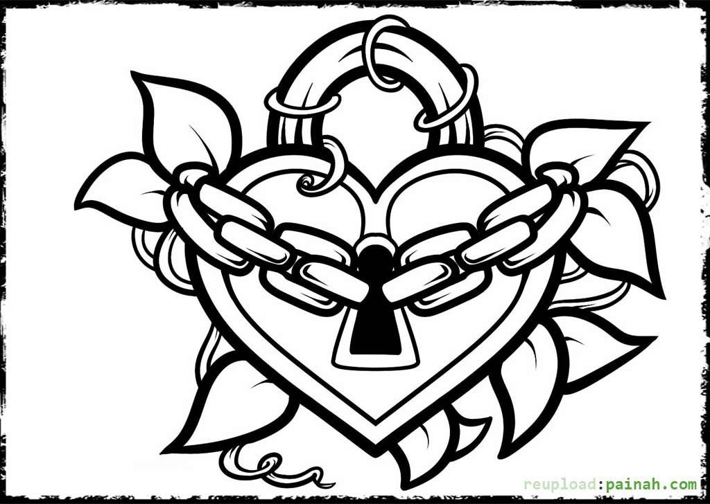 Cute Drawing For Your Boyfriend Coloring Pages For Teenagers Heart Coloring Pages Coloring Pages For Girls