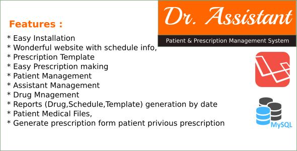 Dr Assistant - Patient and Prescription Management System in
