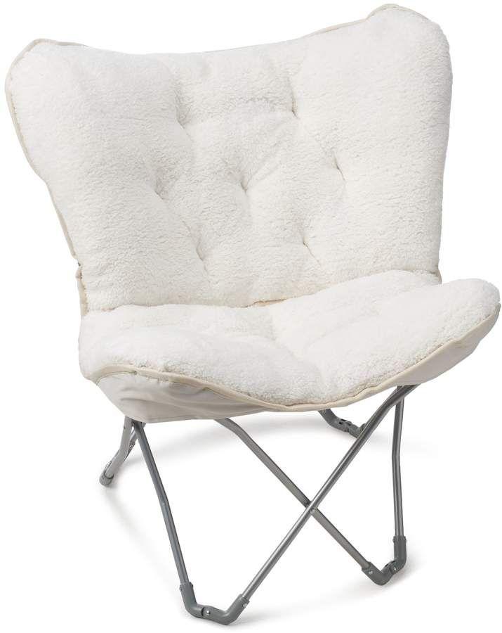 Simple By Design Sherpa Memory Foam Butterfly Chair Butterfly