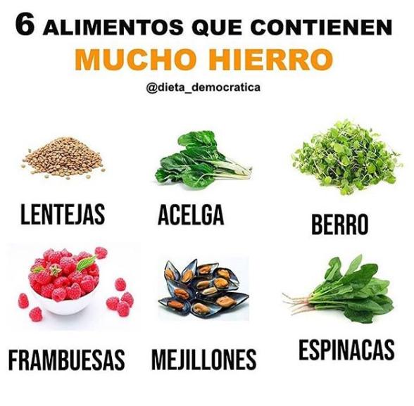 10 Alimentos Ricos En Hierro Alimentos Ricos En Hierro Alimentos Comida Con Hierro