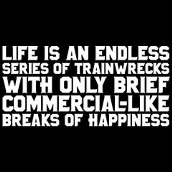 Life Is An Endless Series Of Trainwrecks With Only Brief Commercial
