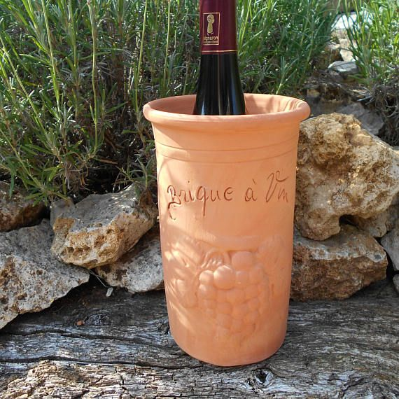 French Vintage Rustic Terracotta Brique A Vin Wine Brique Terracotta Vin