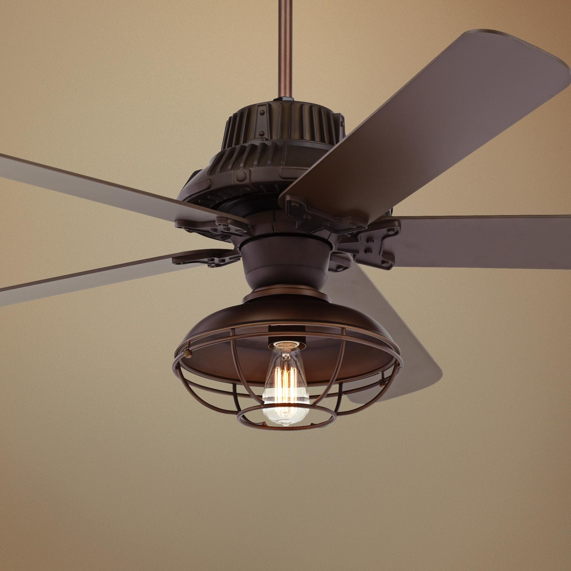 60 Inch Industrial Forge Led Outdoor Ceiling Fan In 2020 Ceiling