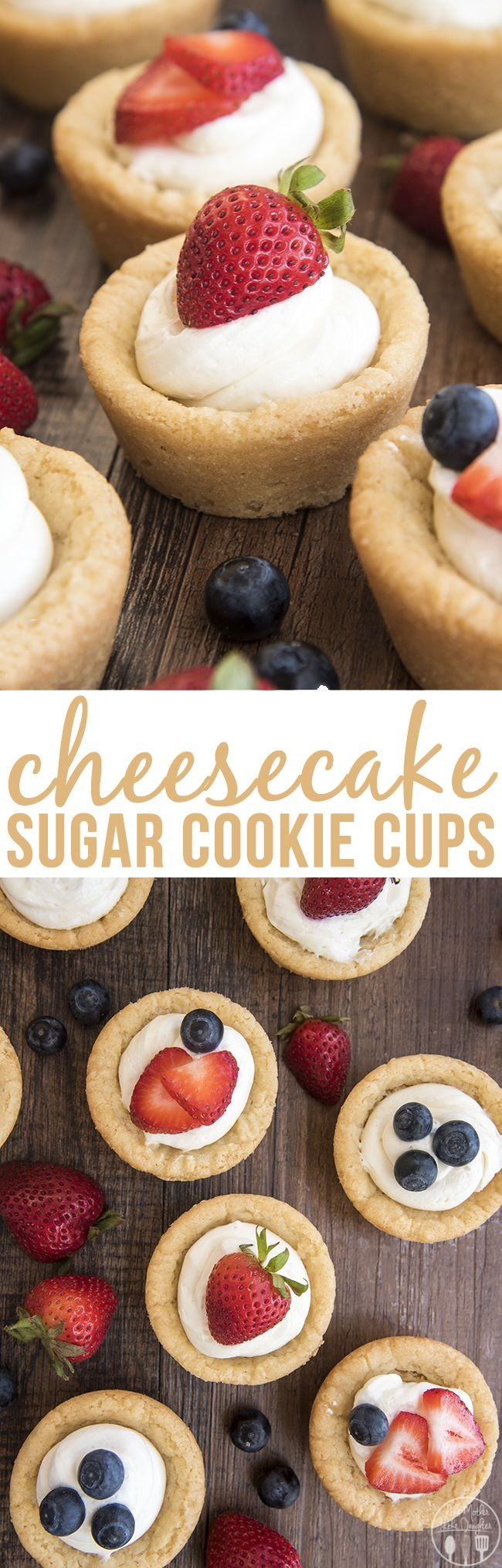 Cheesecake Sugar Cookie Cups | Recipe | Little cup, No bake ...