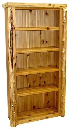 Northwoods Cedar Log Bookcase Cedar Furniture Driftwood Furniture Log Furniture Plans
