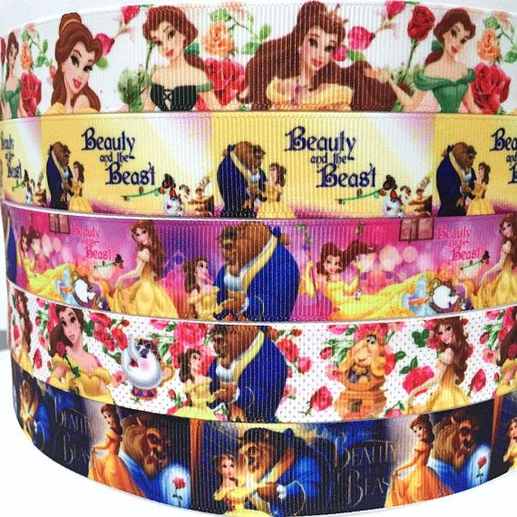 YARD DISNEY BEAUTY AND THE BEAST PRINCESS BELLE GROSGRAIN RIBBON CHARACTER