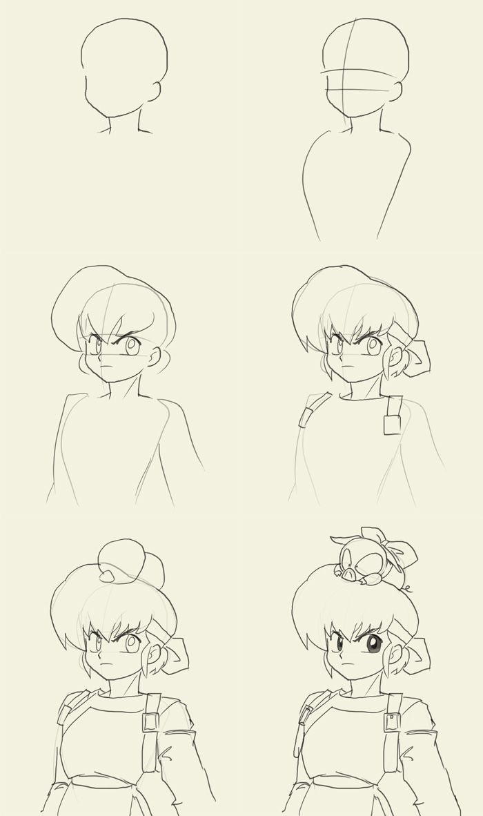 How to draw Ryoga | Drawings, Anime sketch, Concept art ...