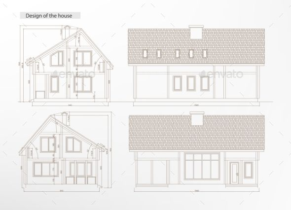 Architectural house blueprint font logo fonts and logos architectural house blueprint malvernweather Gallery