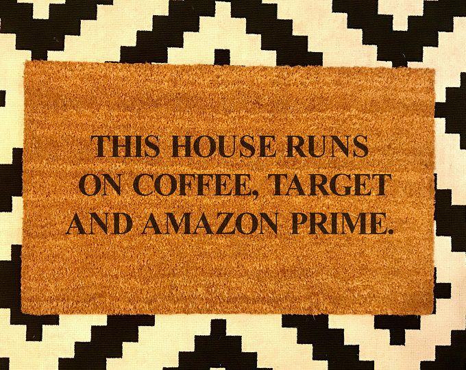 Coffee, Target and Amazon // Doormat // Coir // Funny ...