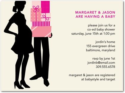 Baby Shower Invitations Perfect Partner Front Fuchsia Baby