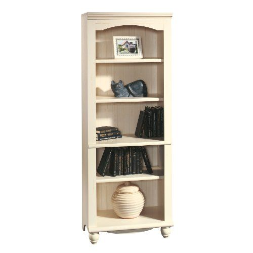 Sauder Harbor View Library Antiqued White Sauder Furniture