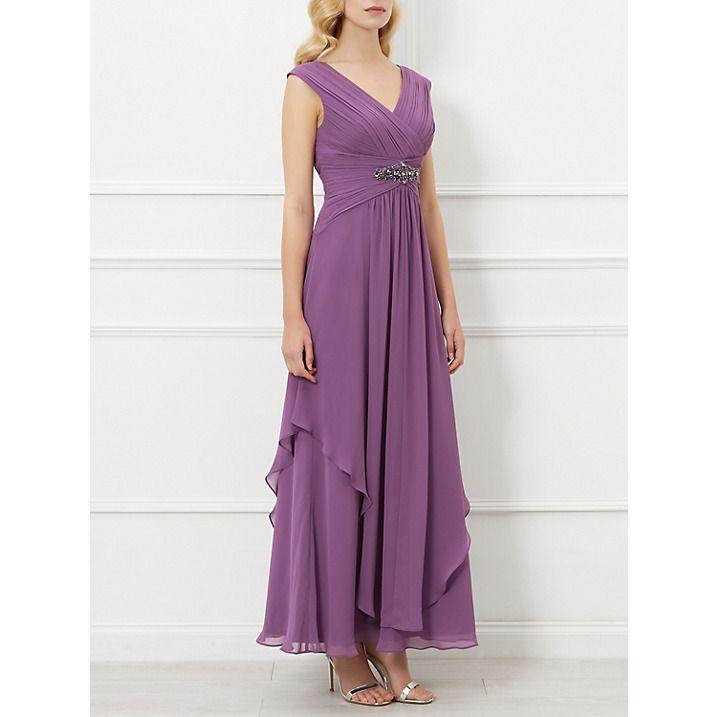 Buy Kaliko Embellished Maxi Dress, Lilac, 8 Online at johnlewis.com ...