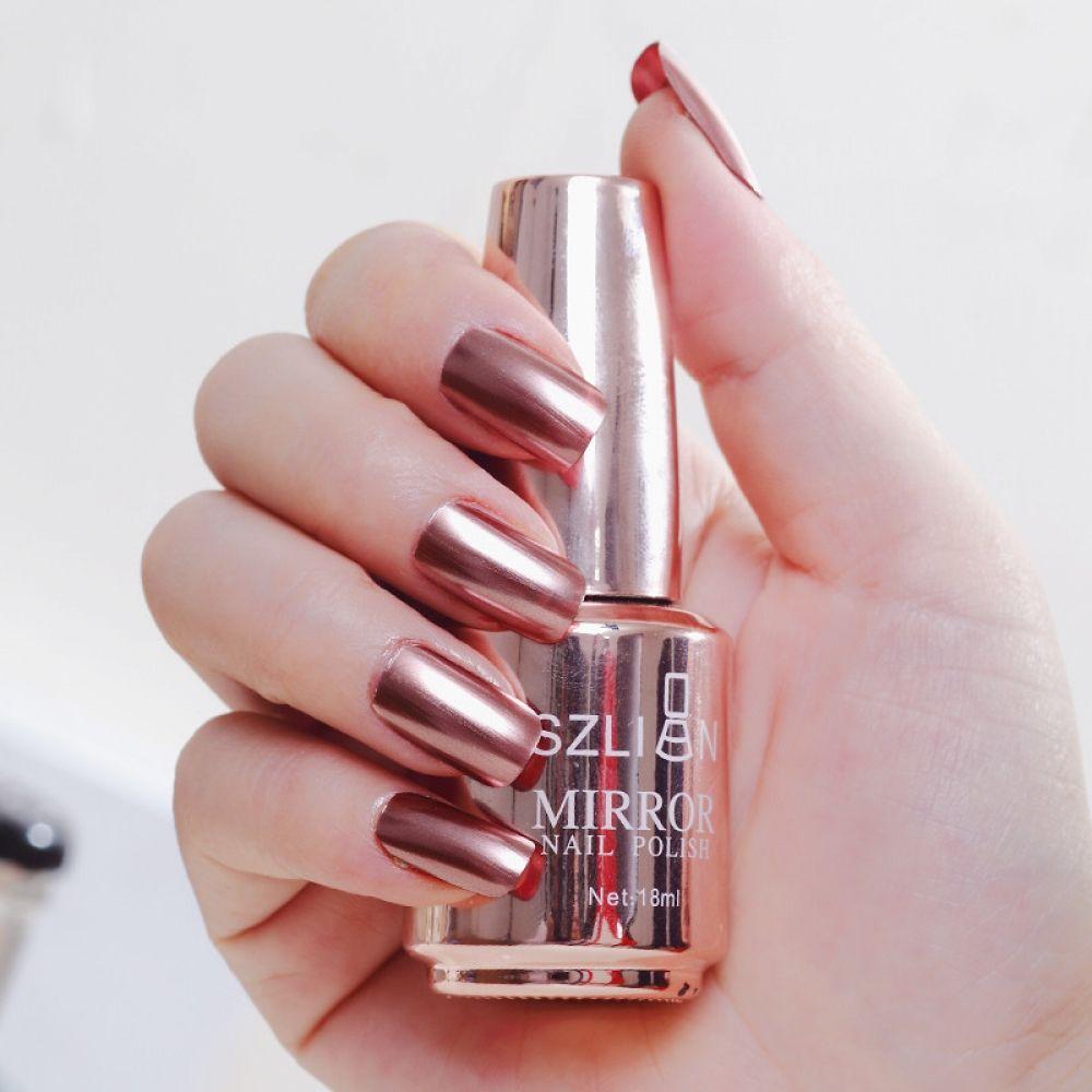 Metálico uñas maquillaje mágico efecto espejo cromo arte esmalte de uñas barniz vernis un ongle vernis semi permanente uv # y2