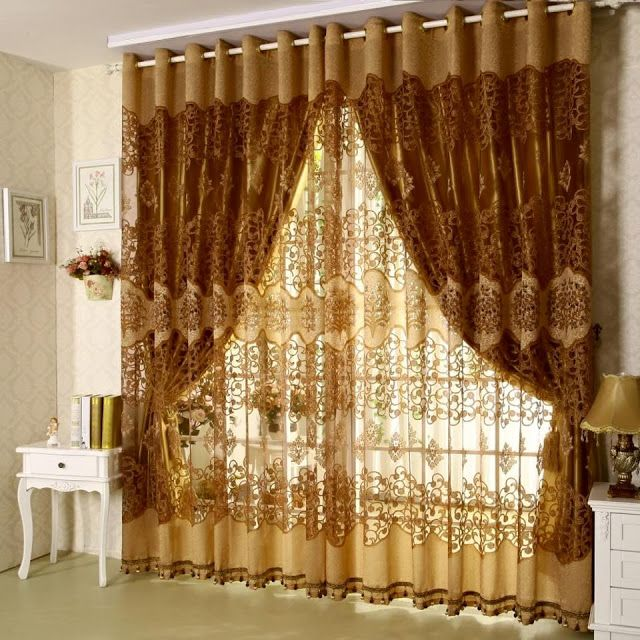 Simple Modern Curtain Designs 2016 Ideas Colors Gold Sparkling Lined Pattern For Windows Treatment