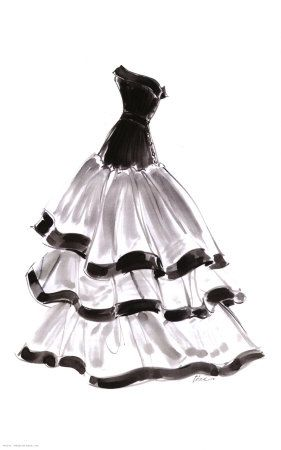 Evening Gown with Ruffles By Tina